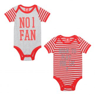 LFC Baby 2 Pack Bodysuit Red/Grey