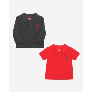 LFC Baby 2-Pack Polos Charcoal / Red