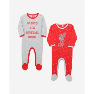 LFC Baby 2-Pack Sleepsuit Red/Grey