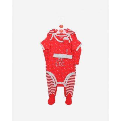 LFC Baby 4-Piece Set Red/Grey