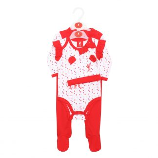 LFC Baby 4-Piece Set White/Red