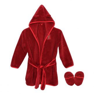 LFC Baby Vintage Red Gown & Slipper Set