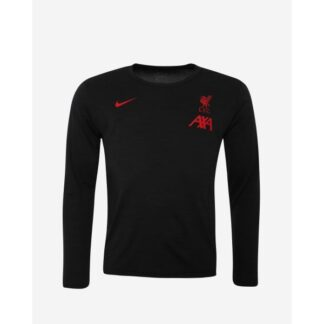 LFC Nike Mens Coaches Collection Black Long-Sleeve Top