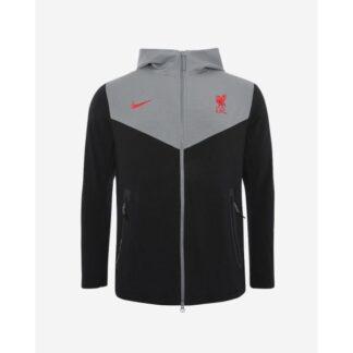 LFC Nike Mens Coaches Collection Black Tech Hoodie